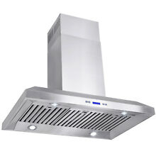36  Europe Stainless Steel Island Mount Range Hood Stove Vent w  Carbon Filter