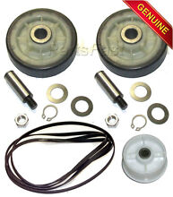 OEM Maytag Dryer Kit  2 Drum Rollers W  Shafts  Belt  Idler Wheel