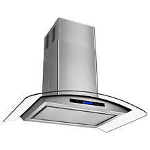 36  Stainless Steel Island Mount Range Hood Stove Kitchen Low Noise Vent