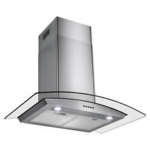 30  Stainless Steel Wall Mount Range Hood with Touch Button Control Cooking Fan