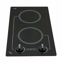 Electric Stove Top High Powered  2 Two  Burners Cooktop Range Oven Kitchen Black