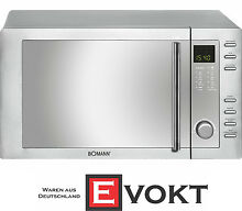 Bomann MWG2281HCB Microwave Oven With Grill   Convection Stainless Steel Genuine