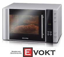 Severin MW7825 Microwave Oven With Grill   Convection 30L Silver Genuine NEW