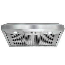 36  Under Cabinet Stainless Steel Push Button Kitchen Range Hood