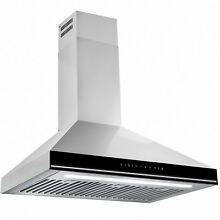 30  Stainless Steel Wall Mount Touch Control Kitchen Range Hood Baffle Filters