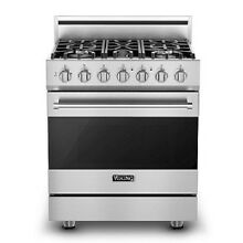 Viking 3 Series 30in Gas Range with 5 Burners   RVGR33025BSS