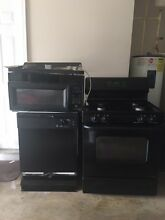 Black Appliances  self cleaning stove  micowave  and dish washer