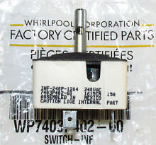 OEM Genuine Whirlpool Oven Element Switch  Check Model Fit List