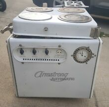 EXTREMELY RARE WALL MOUNTED ARMSTRONG ELECTRIC AUTOMATIC RANGE STOVE OVEN