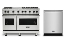 Viking 48in Pro Gas Range with Griddle and FREE Dishwasher   VGR5486GSS