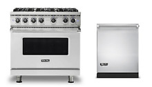 Viking 36  Gas Range   FREE Dishwasher    New Model  VGR5366BSS