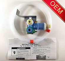 OEM Whirlpool Kenmore KitchenAid Roper Refrigerator Water Valve  See Model List