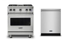 Viking Professional 30in Dual Fuel Range   FREE Dishwasher   VDR5304BSS