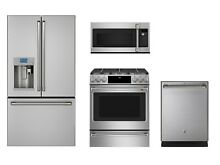 GE Cafe 4 Piece Stainless Kitchen Package