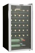 Danby 35 Bottle Free Standing 3 2 cu ft Wine Cooler Cellar DWC350BLPA