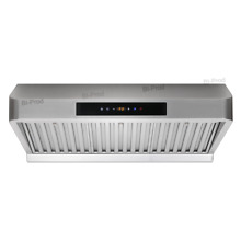 30  RANGE HOOD Under Cabinet Stainless Steel Mesh Filter Touch Pad Timer Baffle