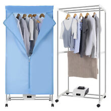 Electric Clothes Dryer Portable Wardrobe Machine 4 casters Remote Control Timer