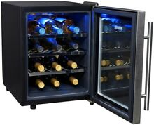 NEWAIR 12 Bottle Thermoelectric Wine Cooler Cool Adjustable Temperature Control