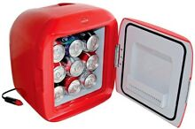 KOOLATRON 9 Gallon Coca Cola Personal Cube Fridge Can Drinks Cooler Cooling Red