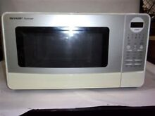 Sharp Carousel R 420LW 06776 White Countertop Microwave Oven MISSING GLASS PLATE