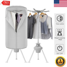 Portable Electric Clothes Dryer Heater Drying Rack Wardrobe Machine Fold 1000W