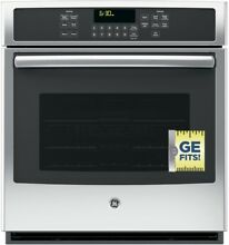 GE ingle Electric Wall Oven Self Cleaning Steam Plus Convection Stainless Steel