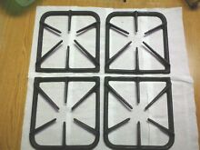 4 Black Cast Iron Burner Grates  From a Vintage Pre 1980 Sears Kenmore Gas Range