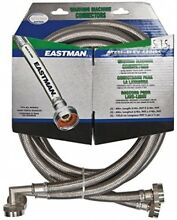 Eastman 41065 Ss Washing Machine Hose with 90 Degree Elbow  3 4 Inch X 1 Pair