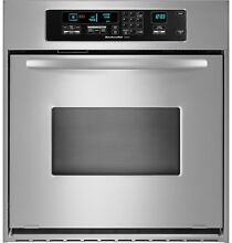 NEW KitchenAid Architect 24  Self Clean CONVECTION Wall Oven Single KEBC147VSS