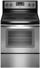Whirlpool 30 in  4 8 cu  ft  Electric Range Stainless Steel Oven Kitchen New