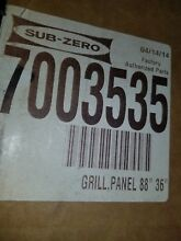 SUB ZERO OVERLAY OR FLUSH INSET GRILL PANEL 7003535