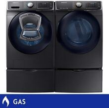 Samsung 4 5CuFt Washer 7 5CuFt GAS Dryer With Multi Steam Technology In Black