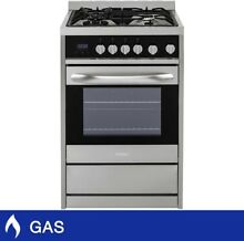 Haier 24  2 0CuFt GAS Free Standing Range In Stainless Steel