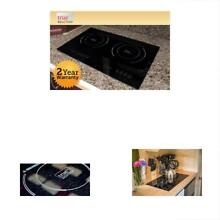 TI 2B Counter Inset Double Burner Induction Cooktop  120V  Black
