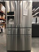 Samsung 28 cu  ft   4 French Doors Refrigerator in Stainless Steel   RF28HMEDBSR