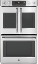 GE Cafe 30in  Double Electric Wall Oven Self Cleaning Convection Stainless Steel