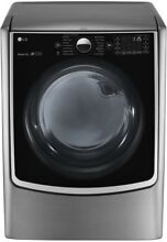 LG Electronics 7 4 cu  ft  Smart Gas Dryer Steam WiFi Enabled Graphite Steel