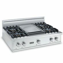 Viking Professional Custom Series 36  Pro Style Gas Rangetop Griddle VGRT5364GSS
