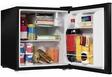 1 7 Cu ft  One Door Refrigerator Half Width Freezer Compact Dorm Apartment Black