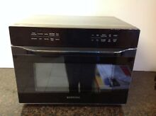 Samsung MC12J8035CT 1 2 Cu  Ft   Stainless Black   Smart Microwave Oven