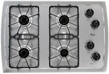 New Heavy Duty Kitchen Whirlpool 30 in  Gas Cooktop Stainless Steel 4 Burners