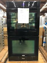 Whirlpool 27 in  Double Electric Wall Oven Self Cleaning in Black   WOD51EC7AB