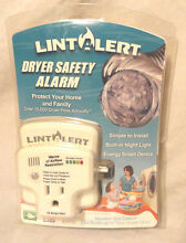 LINT ALERT  CLOTHES DRYER EXHAUST DUCT  LINT CLOG   BLOCKAGE SAFETY ALARM  NEW