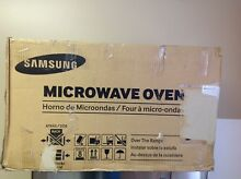 Samsung ME16H702SES 1 6 cu  ft  Over the Range Microwave Oven  Stainless  Silver