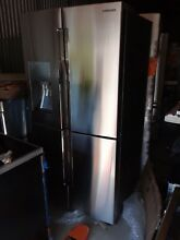 Samsung   28 1 Cu  Ft  4 Door Flex French Door Refrigerator   Fingerprint Resist