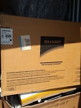 Sharp   1 2 Cu  Ft  Built In Microwave Drawer   Black stainless steel