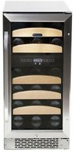 Whynter 28 Bottle Dual Temperature Zone Built In Wine Refrigerator Cooling Home