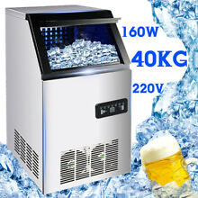 40kg Icemaker Ice Cube Maker Home Business Automatic Ice Water Dispense 88Lbs