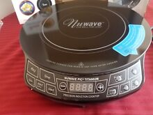 NuWave Precision Electric Induction Cooktop w  Cast Iron Griddle