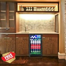 120 Drink Can Soda Beverage Mini Glass Door Refrigerator Fridge Cooler Wine Bar